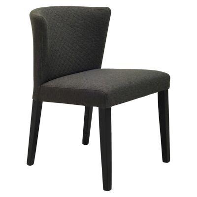 Rhoda Commercial Grade Fabric Dining Chair, Mud / Black