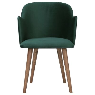 Nayeli Veloutine Fabric Dining Chair, Emerald
