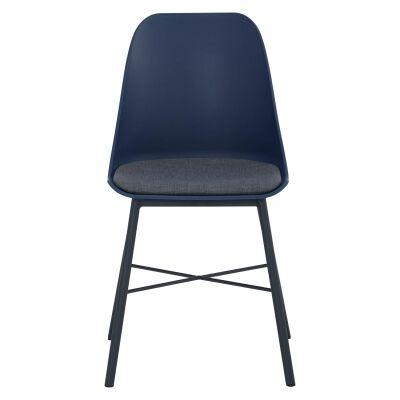 Laxmi Commercial Grade Dining Chair, Navy