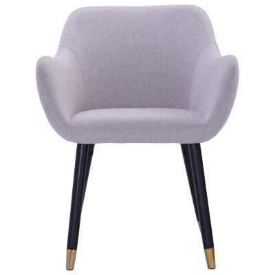 Ailin Veloutine Fabric Dining Armchair, Grey