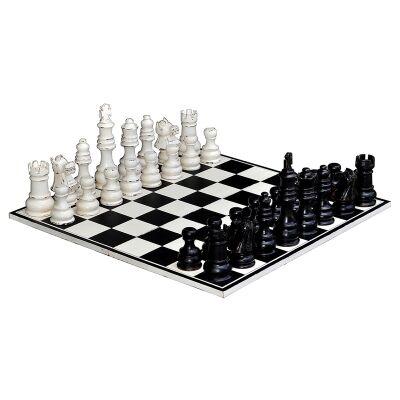 Vanscoy Solid Mahogany Timber Chess Set