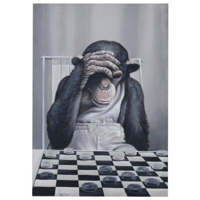 Monkey & Checkers Artwork, 122cm