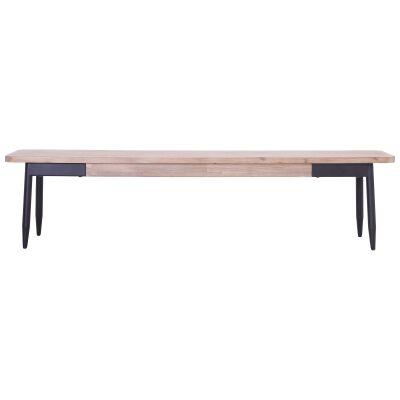 Binder Acacia Timber & Metal Dining Bench, 150cm