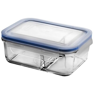 Glasslock Classic DUO Tempered Glass Rectangle Container, 670ml