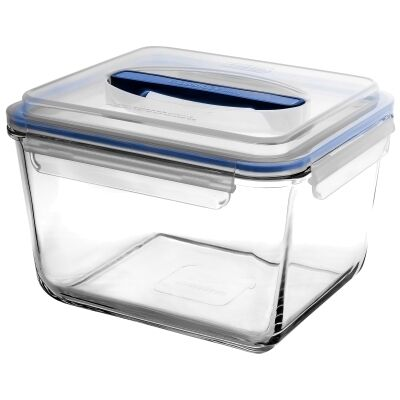 Glasslock Handy Tempered Glass Rectangle Container, 3700ml
