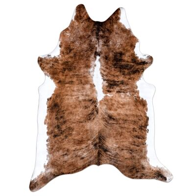 Boutica Faux Cowhide Rug, 200x155cm, Exotic Brown