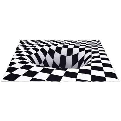 Boutica 3D Illusion Print Rug, Checkered Hole, 160x110cm