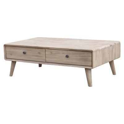 Vasto Acacia Timber Coffee Table, 120cm
