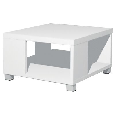 Cirrus Square Lamp Table, White