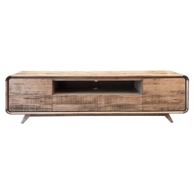 Baulkham Ashwood Timber 2 Door 2 Drawer Lowline TV Unit, 210cm