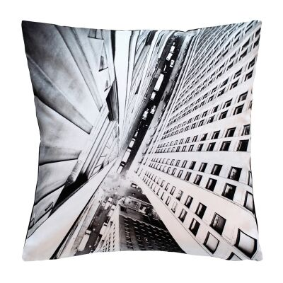 Vertical City Printed Cotton Scatter Cushion