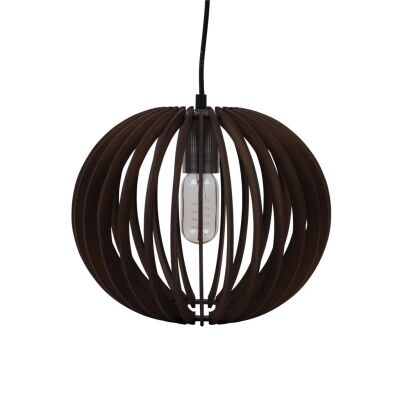 Puffin Timer Pendant Light, 30cm, Brown