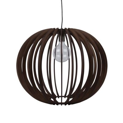 Puffin Timer Pendant Light, 60cm, Brown