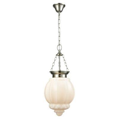 Chelsea Glass Lantern Pendant Light, Opal