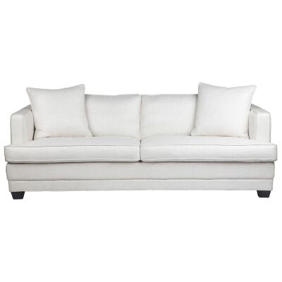 Darling Fabric 3 Seater Sofa, Off White