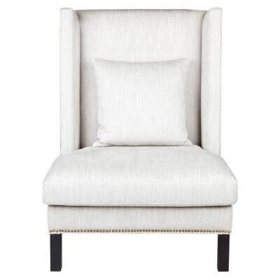Lourdes Fabric Wing Chair, Natural