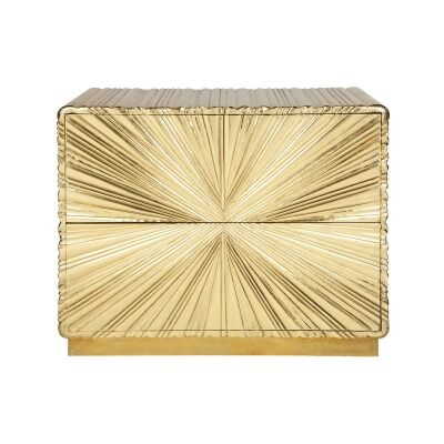 Saskia 2 Drawer Accent Chest, Gold
