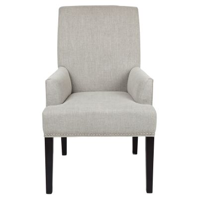 Bentley Fabric Dining Armchair, Grey