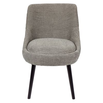 Koko Fabirc Dining Chair, Black Bubble