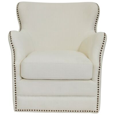 Autumn Linen Swivel Armchair