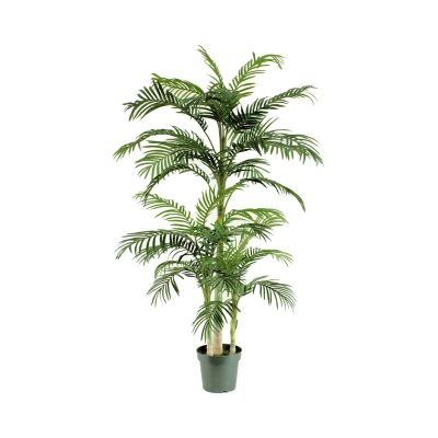 Potted Artificial Cane Palm Tree, Type A, 198cm