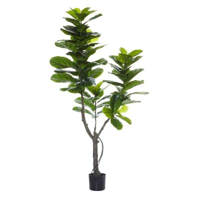 Potted Artificial Fiddle Leaf Fig Tree, Type A, 180cm