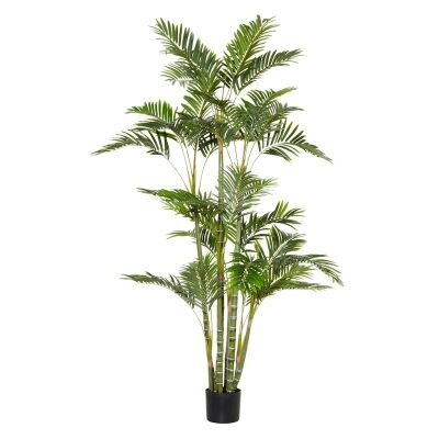 Potted Artificial Cane Palm Tree, Type B, 180cm
