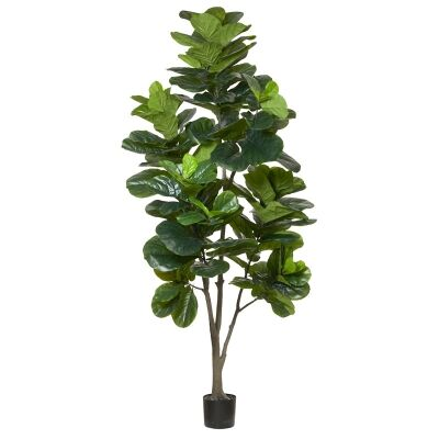 Potted Artificial Fiddle Leaf Fig Tree, Type C, 240cm