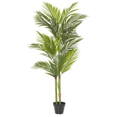 Potted Artificial Cane Palm Tree, Type C, 152cm