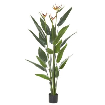 Potted Artificial Bird of Paradise with Flowers, 155cm