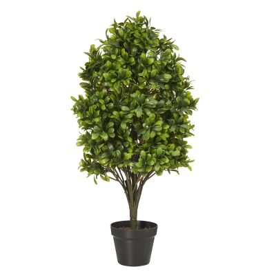 Potted Artificial Boxwood Tree, 81cm