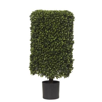 Potted Artificial Box Leaf Hedge Topiary, 82cm