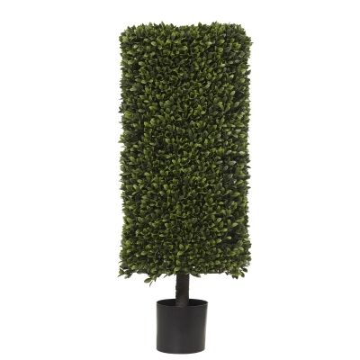 Potted Artificial Box Leaf Hedge Topiary, 100cm