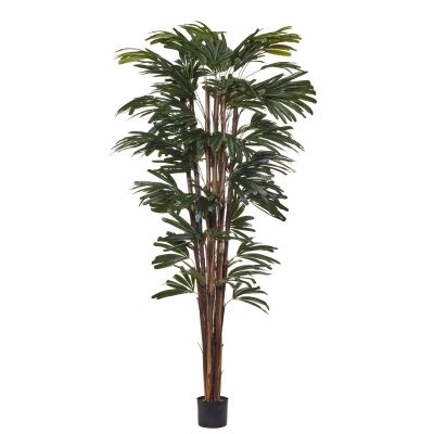 Potted Artificial Rhapis Palm Tree, 210cm