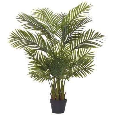 Potted Artificial Cane Palm, 120cm