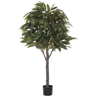 Potted Artificial Ficus Alli Tree, 122cm