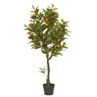 Potted Artificial Kumquat Tree, 122cm