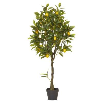 Potted Artificial Lemon Tree, 122cm