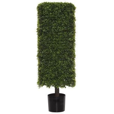 Potted Artificial Tea Leaf Topiary, Hedge, 104cm