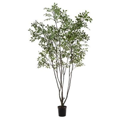 Potted Artificial Sorbus Aucuparia Tree, 213cm