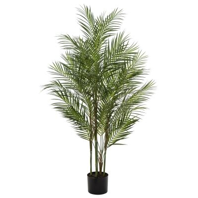 Potted Artificial Phoenix Palm Tree, 122cm