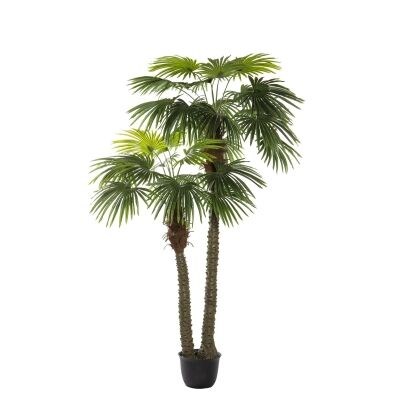 Potted Artificial Fan Palm Tree, 250cm