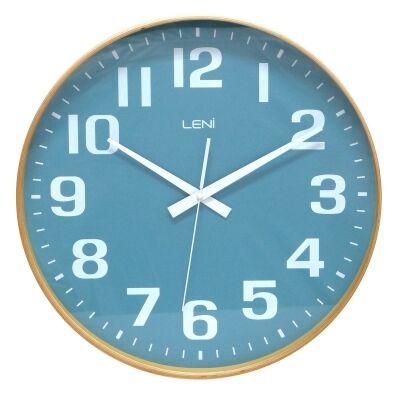 Leni Wooden Wall Clock, 40cm, Teal