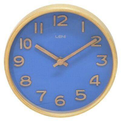 Leni Wooden Table / Wall Clock, 18cm, Navy