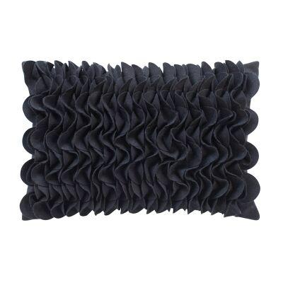 Zenia Applique Wool Lumbar Cushion