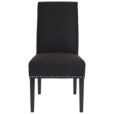 Bentley Fabric Dining Chair, Black