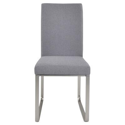 Edwin Fabric Dining Chair, Light Grey