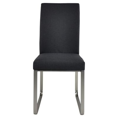 Edwin Fabric Dining Chair, Dark Grey