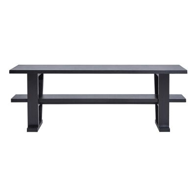 Blaine Wooden Console Table, 200cm, Black
