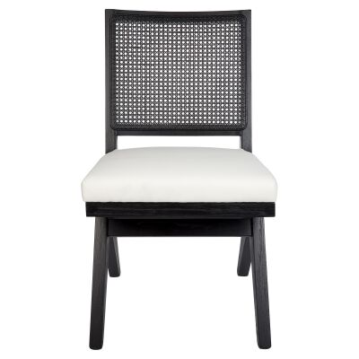 The Imperial Oak Timber Dining Chair, Black / White